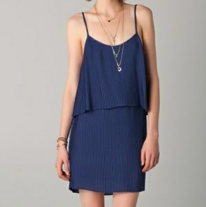 Parker Blue Pleated Dress